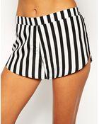Asos Mono Stripe Pajama Shorts - Lyst