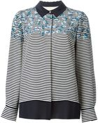 Tory Burch Floral Striped Shirt - Lyst