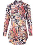Moschino Animal Print Blouse - Lyst