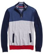 Tommy Hilfiger Colorblock Mock Neck Sweater - Lyst