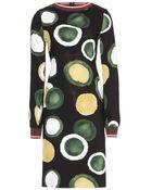 Marni Printed Crepe Dress - Lyst
