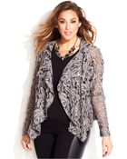 Inc International Concepts Plus Size Draped Lace Moto Jacket - Lyst