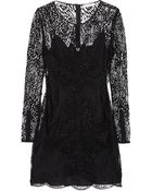 Matthew Williamson Embroidered Lace Mini Dress - Lyst