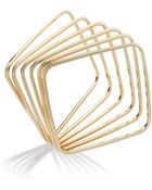 ABS By Allen Schwartz Bracelet Gold-Tone Square Bangle Bracelet Set - Lyst