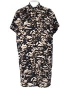 Neil Barrett Printed Cotton Shirt Dress - Lyst