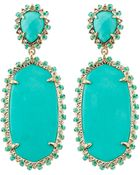 Kendra Scott Parsons Clip-On Earrings - Lyst