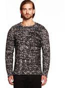 Michael Stars Long Sleeve Rolled Edge Crew Neck Sweater - Lyst