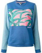 Kenzo Printed Sweatshirt - Lyst