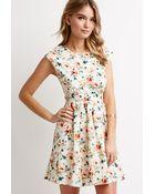 Love 21 Cutout-Back Floral Print Dress - Lyst
