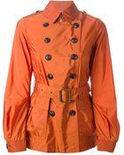 Burberry Brit Short Trench Coat - Lyst