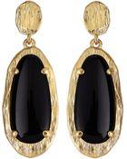 Panacea Elongated Oval Crystal Earrings - Lyst