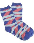 J.Crew Richer Poorer® Blue Striped Socks - Lyst