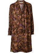 Yves Saint Laurent Vintage Printed Dress - Lyst