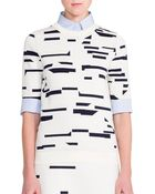 Jil Sander Abstract Intarsia Sweater Top - Lyst