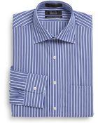 Saks Fifth Avenue Black Label Slim-Fit Shadow Stripe Cotton Dress Shirt - Lyst
