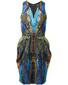 McQ by Alexander McQueen Crocodile Print Dress - Lyst