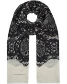 Alexander McQueen Skull and Lace Pashmina - Lyst