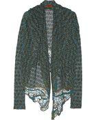Missoni Metallic Crochet-Knit Hooded Cardigan - Lyst