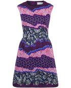 Peter Pilotto Purple Shard Print Silk Dress - Lyst
