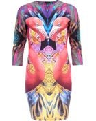 River Island Pink Flamingo Abstract Print Bodycon Dress - Lyst