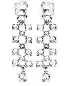 Oscar de la Renta Clustered Crystal Clip-On Earrings - Lyst