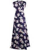Marni Floral-Print Wrap Dress - Lyst