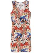 Carven Japanese Floral Tank Dress - Lyst