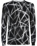 McQ by Alexander McQueen Scratch Print Sweater - Lyst