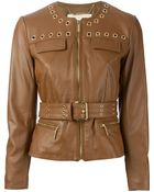 MICHAEL Michael Kors Belted Jacket - Lyst