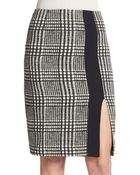 Etro Houndstooth Tweed Pencil Skirt - Lyst