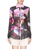 Preen By Thornton Bregazzi Wenden Collage Floral Print Silk Blouse - Lyst