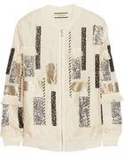 By Malene Birger Ailatia Embellished Silk-Organza Bomber Jacket - Lyst