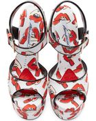 Brian Atwood White Donald Robertson Edition Karin Sandals - Lyst