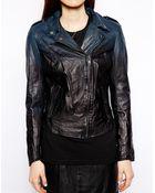 Muubaa Salazar Ombre Leather Biker Jacket - Lyst