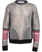 James Long Ribbon Woven Mesh Sweater - Lyst