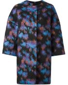 MSGM Abstract Pattern Oversized Coat - Lyst