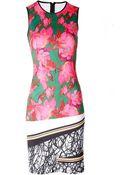 Clover Canyon Scribble Scarf Dress Multi Neoprene - Lyst