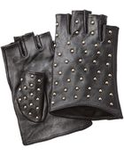 Karl Lagerfeld Studded Leather Gloves - Lyst