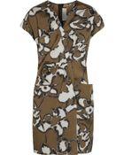 Marni Printed Silk-Taffeta Dress - Lyst
