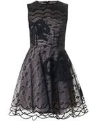 RED Valentino Bow-Embroidered Lace Dress - Lyst