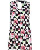 River Island White Chelsea Girl Floral Check Shift Dress - Lyst