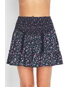 Forever 21 Ditsy Floral Ruffled Skirt - Lyst