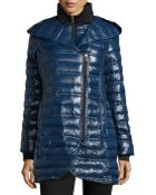 French Connection Asymmetric-Zip Packable Down Coat - Lyst