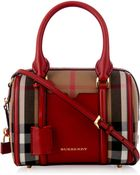 Burberry London Alchester Mini Checked Bowling Bag - Lyst