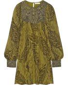 Matthew Williamson Embellished Silk-Chiffon Dress - Lyst
