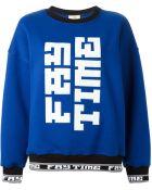 Fay Printed Cotton Sweatshirt - Lyst