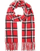 Marc By Marc Jacobs Toto Plaid Scarf - Lyst
