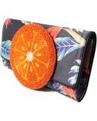 Sarah's Bag Orange 70S Clutch - Lyst