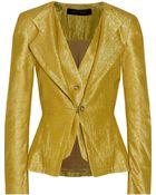 Roland Mouret Metallic Silk-Blend Jacket - Lyst