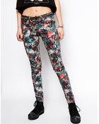 By Zoé Floral Print Jeans - Lyst